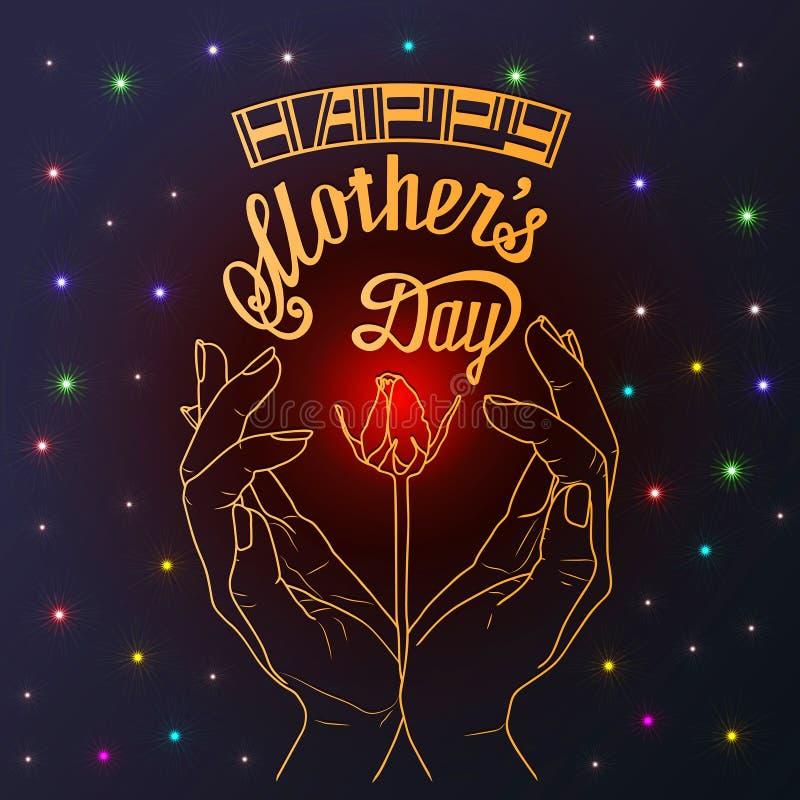 Ημέρα της ευτυχούς μητέρας - κάρτα στοκ εικόνες