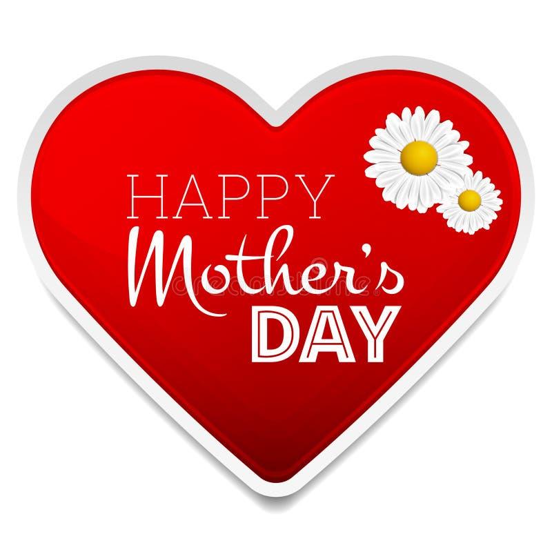 Ημέρα της ευτυχούς μητέρας απεικόνιση αποθεμάτων