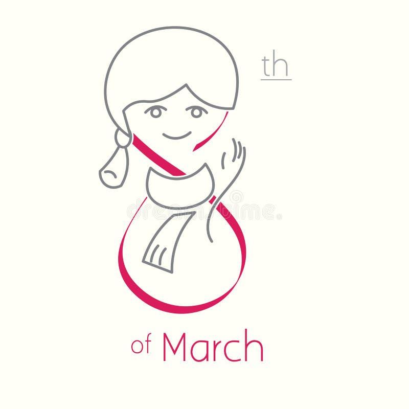 Ημέρα της διεθνούς γυναίκας 8η του Μαρτίου στοκ φωτογραφίες
