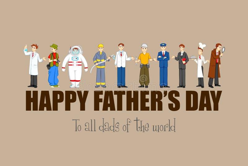 Ημέρα του ευτυχούς πατέρα διανυσματική απεικόνιση