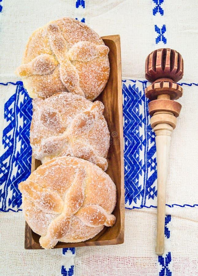 Ημέρα του νεκρά ψωμιού & x28 Pan de Muerto& x29  στοκ φωτογραφίες