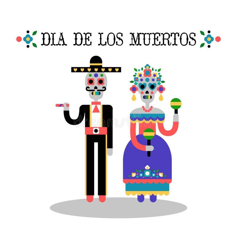 Ημέρα του νεκρού & x28 Dia de Los Muertos& x29  διανυσματική απεικόνιση