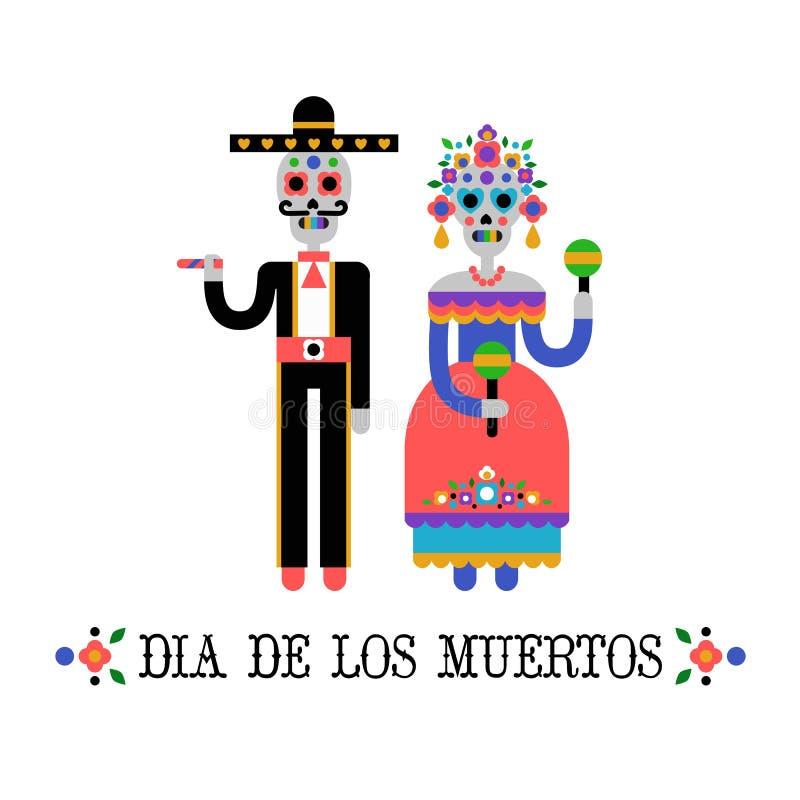 Ημέρα του νεκρού & x28 Dia de Los Muertos& x29  απεικόνιση αποθεμάτων