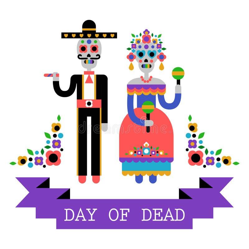 Ημέρα του νεκρού & x28 Dia de Los Muertos& x29  ελεύθερη απεικόνιση δικαιώματος