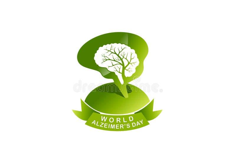 Ημέρα του παγκόσμιου Alzheimer ελεύθερη απεικόνιση δικαιώματος