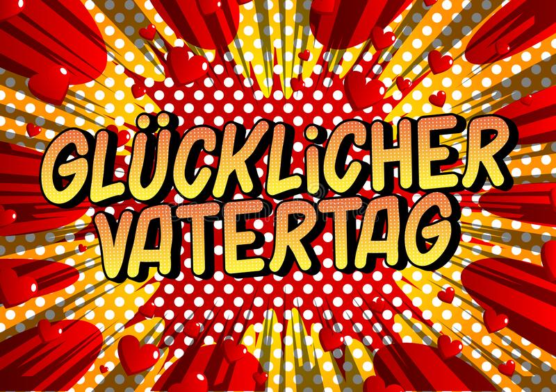 Ημέρα του πατέρα Vatertag Glucklicher στα γερμανικά ελεύθερη απεικόνιση δικαιώματος