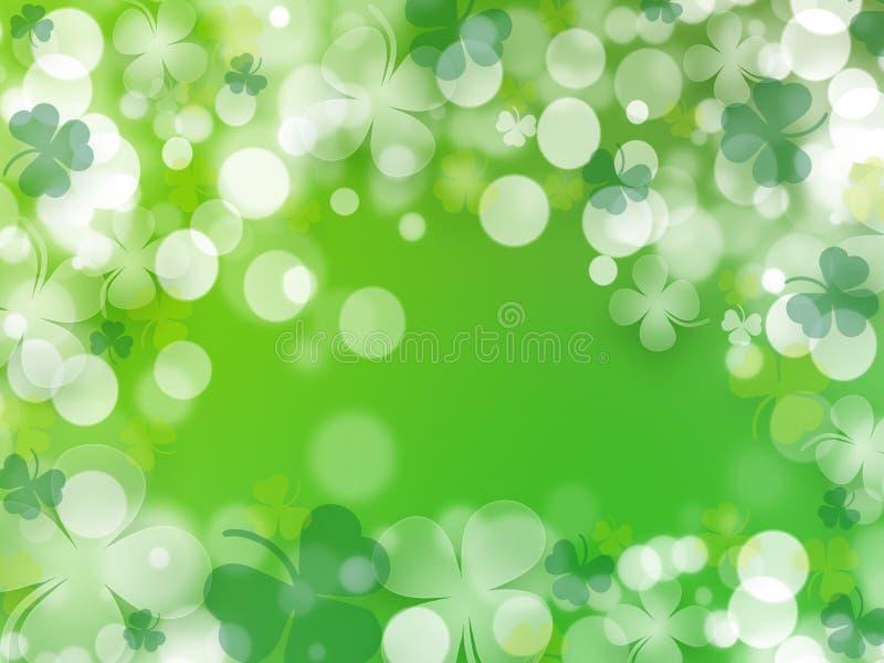 Ημέρα του ST Πάτρικ, πράσινο υπόβαθρο μέχρι ημερησίως του ST Πάτρικ - απεικόνιση διανυσματική απεικόνιση
