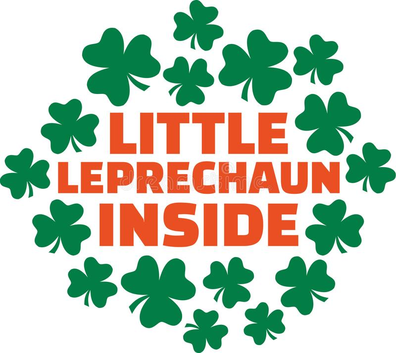 Ημέρα του ST Πάτρικ ` s που λέει για τις εγκύους γυναίκες - λίγο Leprechaun μέσα ελεύθερη απεικόνιση δικαιώματος