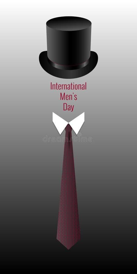 Ημέρα των διεθνών ατόμων Έννοια του κοινωνικού γεγονότος γένους Τοπ καπέλο, περιλαίμιο, δεσμός Όνομα διακοπών ελεύθερη απεικόνιση δικαιώματος