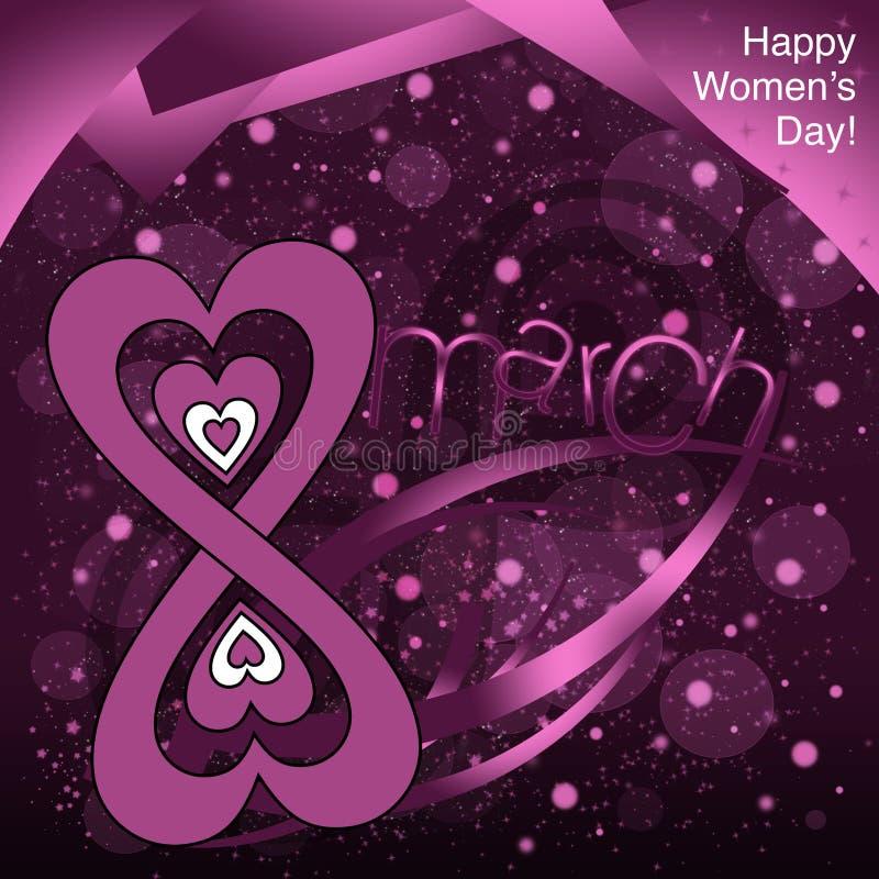 Ημέρα των ευτυχών γυναικών! διανυσματική απεικόνιση