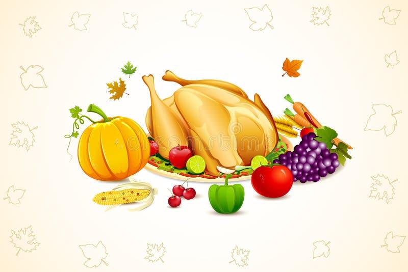ημέρα των ευχαριστιών καρτώ διανυσματική απεικόνιση