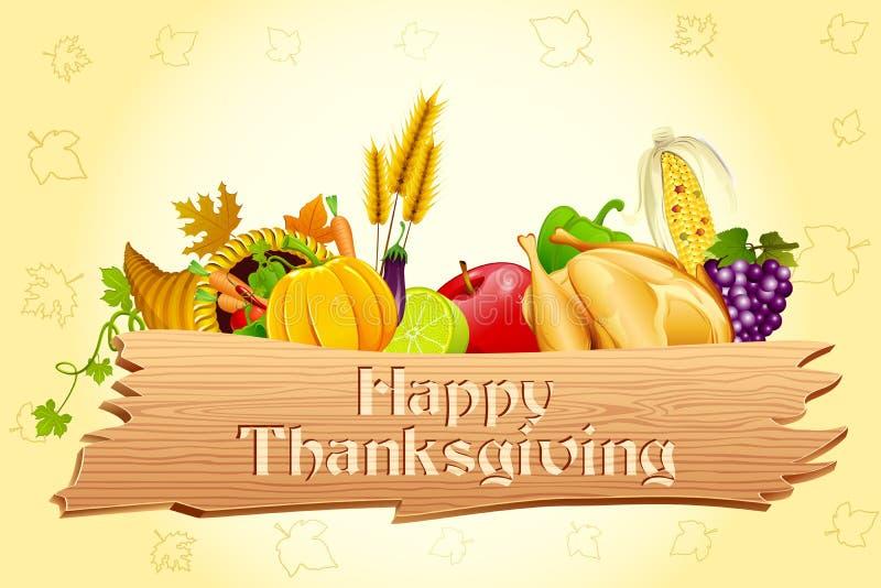 ημέρα των ευχαριστιών καρτώ απεικόνιση αποθεμάτων