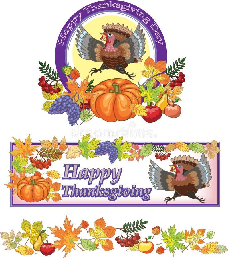 Ημέρα των ευχαριστιών, Τουρκία, ημέρα, υπόβαθρο, διακοπές διανυσματική απεικόνιση