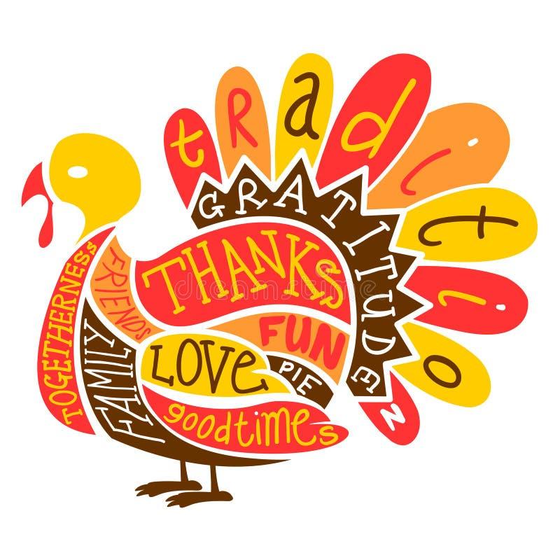 Ημέρα των ευχαριστιών Τουρκία απεικόνιση αποθεμάτων