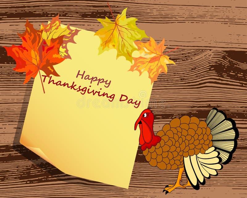 Ημέρα των ευχαριστιών διανυσματική απεικόνιση