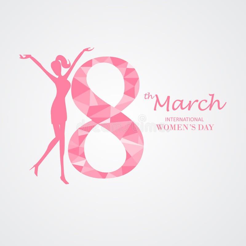 Ημέρα των διεθνών γυναικών, υπόβαθρο διανυσματική απεικόνιση