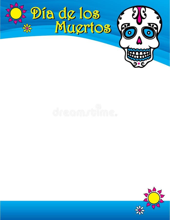 Ημέρα των νεκρών ζωηρόχρωμων Αγίων βωμών αφισών ελεύθερη απεικόνιση δικαιώματος