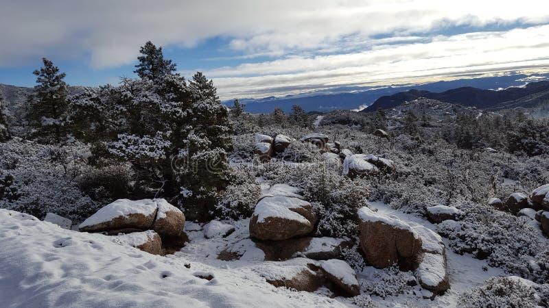 Ημέρα χιονιού διασκέδασης στη χειμερινή χώρα των θαυμάτων στοκ εικόνες