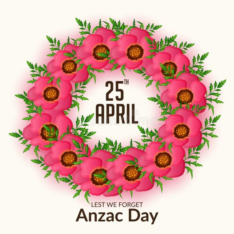 Ημέρα Anzac διανυσματική απεικόνιση