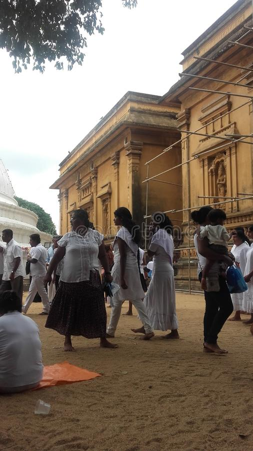 Ημέρα poya ναών Kelaniya στοκ εικόνες