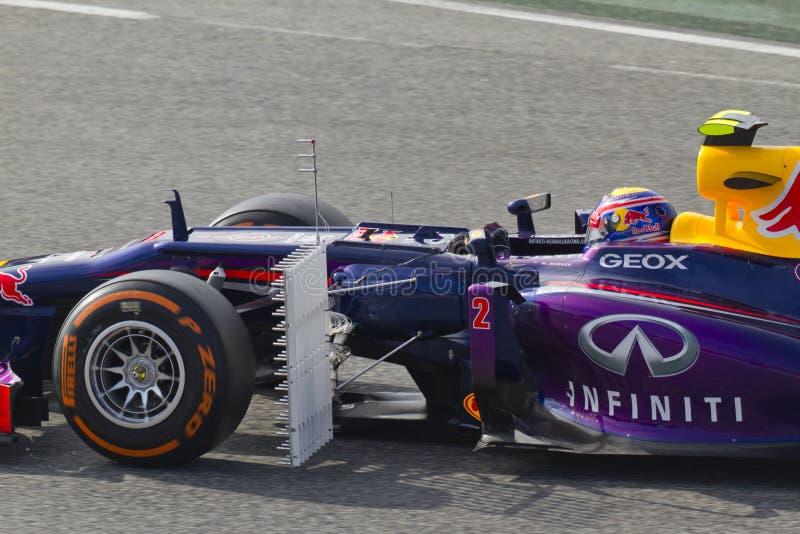 Ημέρες δοκιμής ομάδων Formula 1 στο κύκλωμα Catalunya στοκ εικόνα