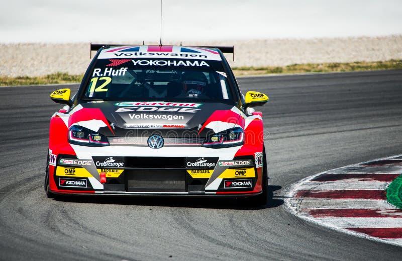 Ημέρες 2019 δοκιμής FIA WTCR στοκ εικόνες