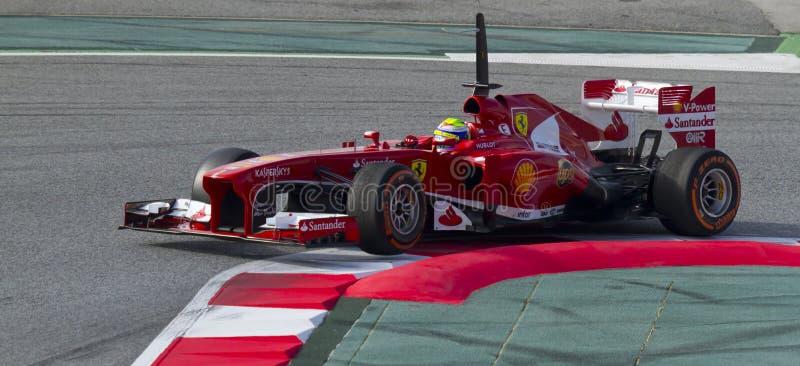 Ημέρες δοκιμής ομάδων Formula 1 στο κύκλωμα Catalunya στοκ εικόνες με δικαίωμα ελεύθερης χρήσης