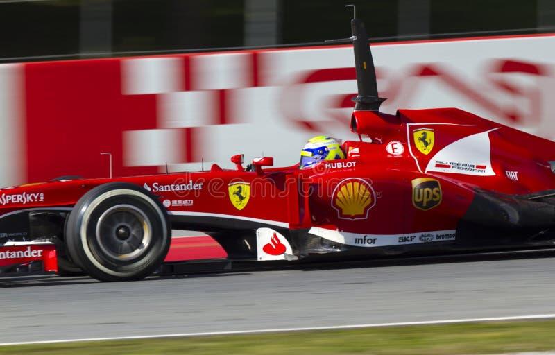 Ημέρες δοκιμής ομάδων Formula 1 στο κύκλωμα Catalunya στοκ εικόνα με δικαίωμα ελεύθερης χρήσης