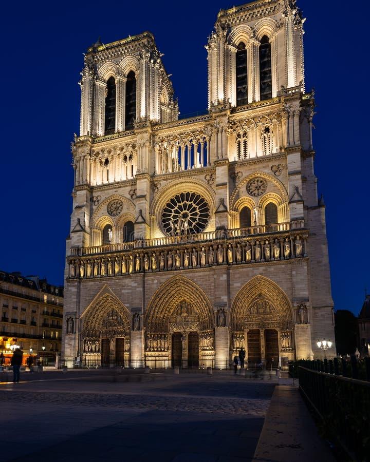 Ημέρες της Notre Dame πριν από την πυρκαγιά στοκ εικόνα με δικαίωμα ελεύθερης χρήσης