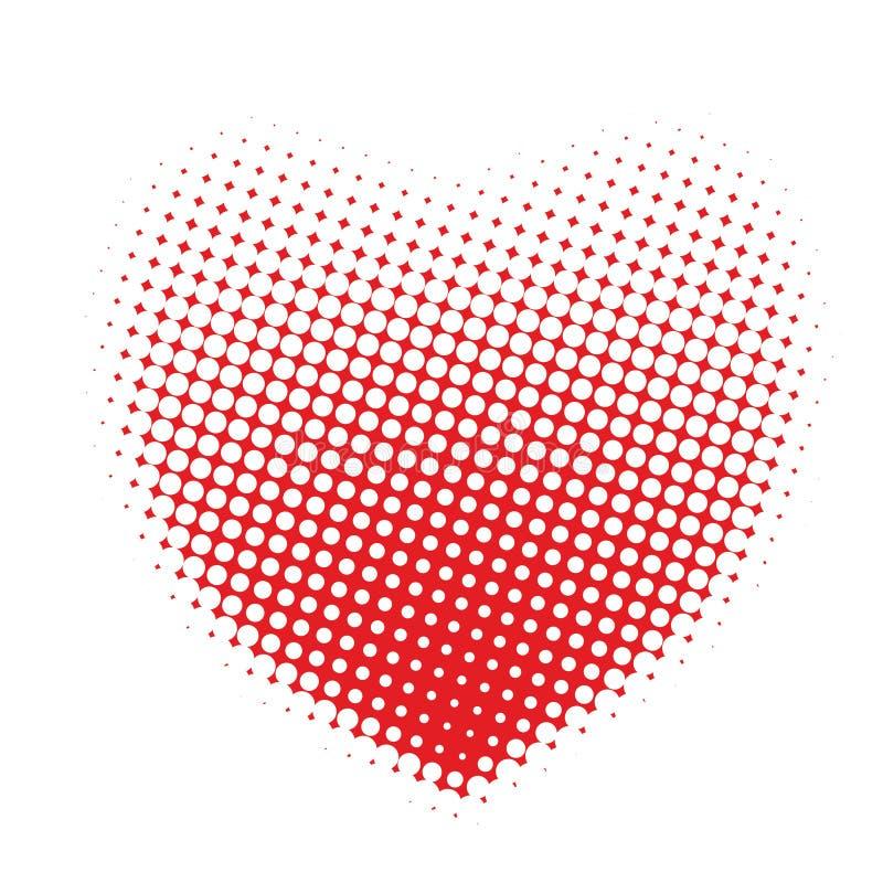 ημίτοή καρδιά σημείων διανυσματική απεικόνιση