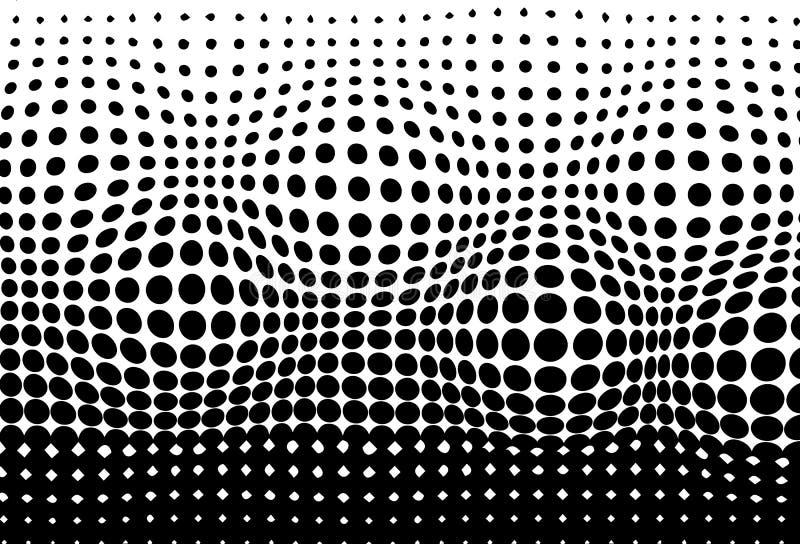 Ημίτοή, κυρτή κινούμενη αφηρημένη ΤΣΕ pointillism σύστασης σχεδίων διανυσματική απεικόνιση