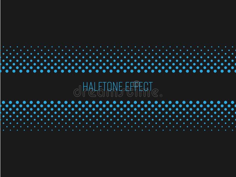 Ημίτοή λουρίδα τίτλου επίδρασης με το μπλε κείμενο στο σκοτεινό γκρίζο υπόβαθρο επίσης corel σύρετε το διάνυσμα απεικόνισης ελεύθερη απεικόνιση δικαιώματος