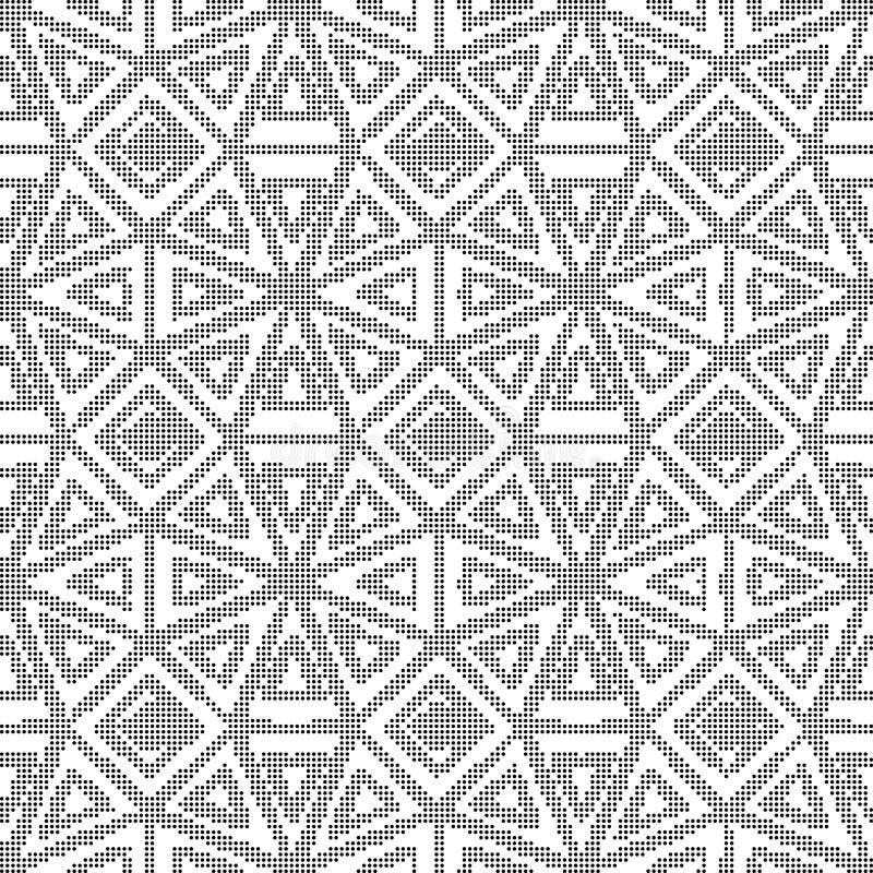 Ημίτονος στρογγυλός μαύρος άνευ ραφής έλεγχος τριγώνων οκταγώνων υποβάθρου απεικόνιση αποθεμάτων