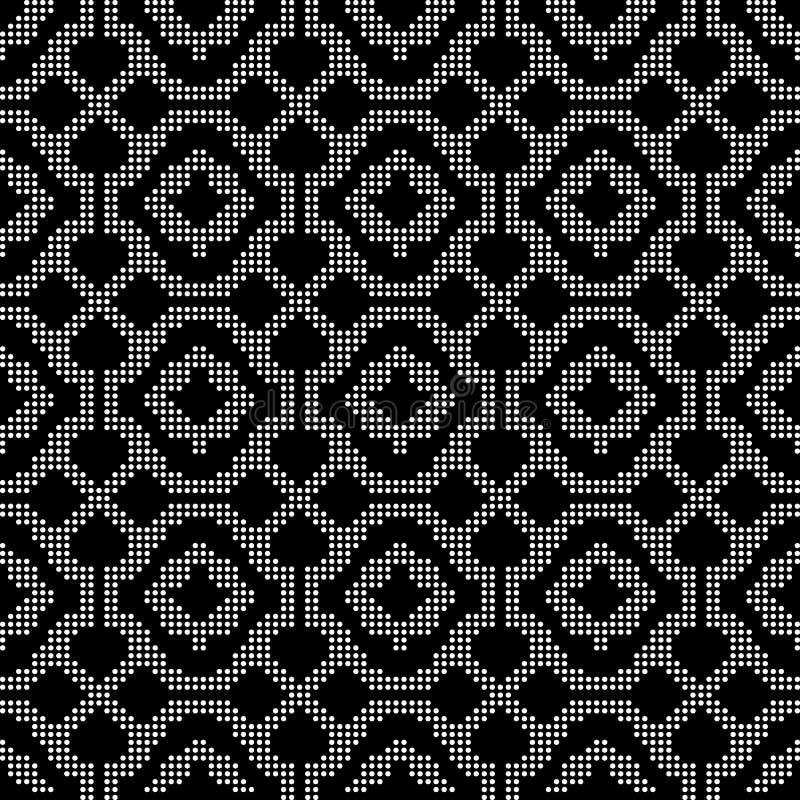 Ημίτονος στρογγυλός μαύρος άνευ ραφής υποβάθρου έλεγχος γραμμών καμπυλών διαγώνιος διανυσματική απεικόνιση