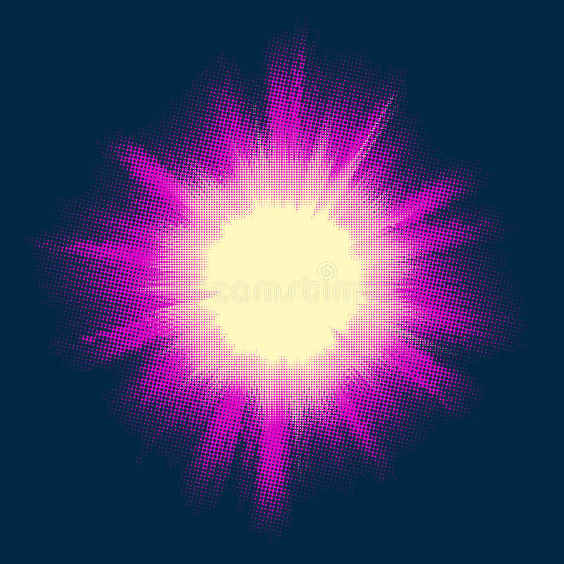 Ημίτονο αστέρι Μπιγκ Μπανγκ 10 eps ελεύθερη απεικόνιση δικαιώματος