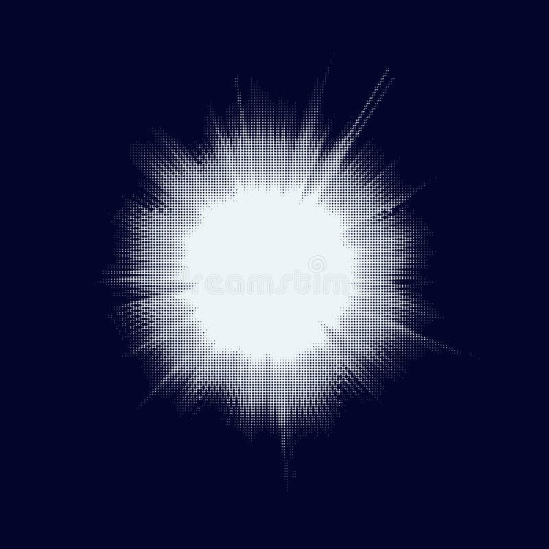Ημίτονο αστέρι Μπιγκ Μπανγκ 10 eps απεικόνιση αποθεμάτων