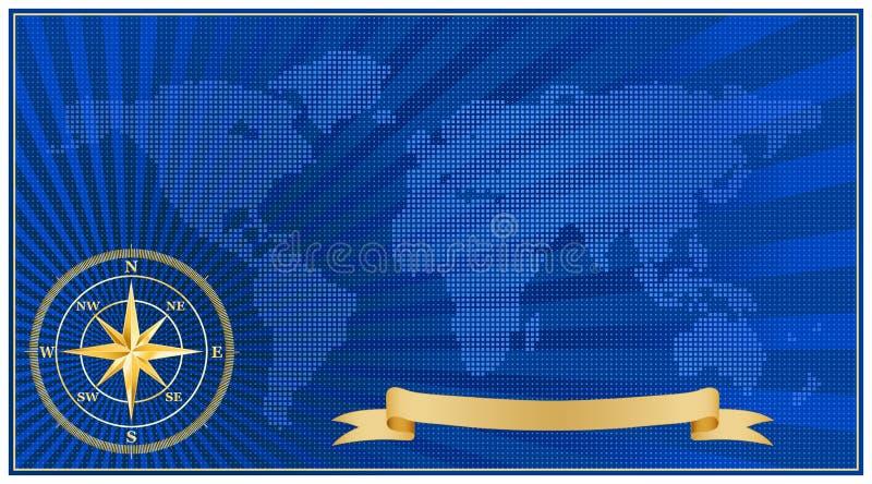 ημίτονο διάνυσμα χαρτών απεικόνιση αποθεμάτων