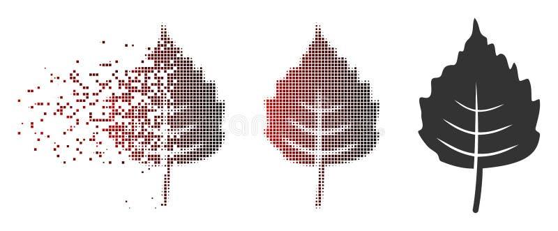 Ημίτονο εικονίδιο φύλλων σημύδων εικονοκυττάρου σκόνης ελεύθερη απεικόνιση δικαιώματος