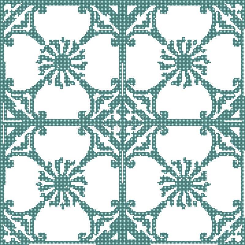 Ημίτονο ζωηρόχρωμο άνευ ραφής αναδρομικό σπειροειδές λουλούδι σχεδίων kaleidosc απεικόνιση αποθεμάτων