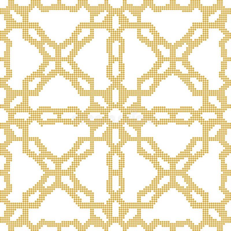 Ημίτονο ζωηρόχρωμο άνευ ραφής αναδρομικό geo λουλουδιών σχεδίων κίτρινο διαγώνιο απεικόνιση αποθεμάτων