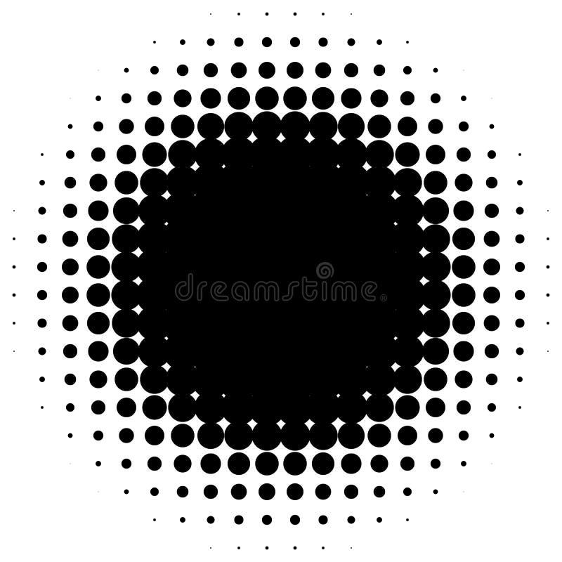 Ημίτονο στοιχείο κύκλων Μονοχρωματικό διαστιγμένο κυκλικό σχέδιο απεικόνιση αποθεμάτων