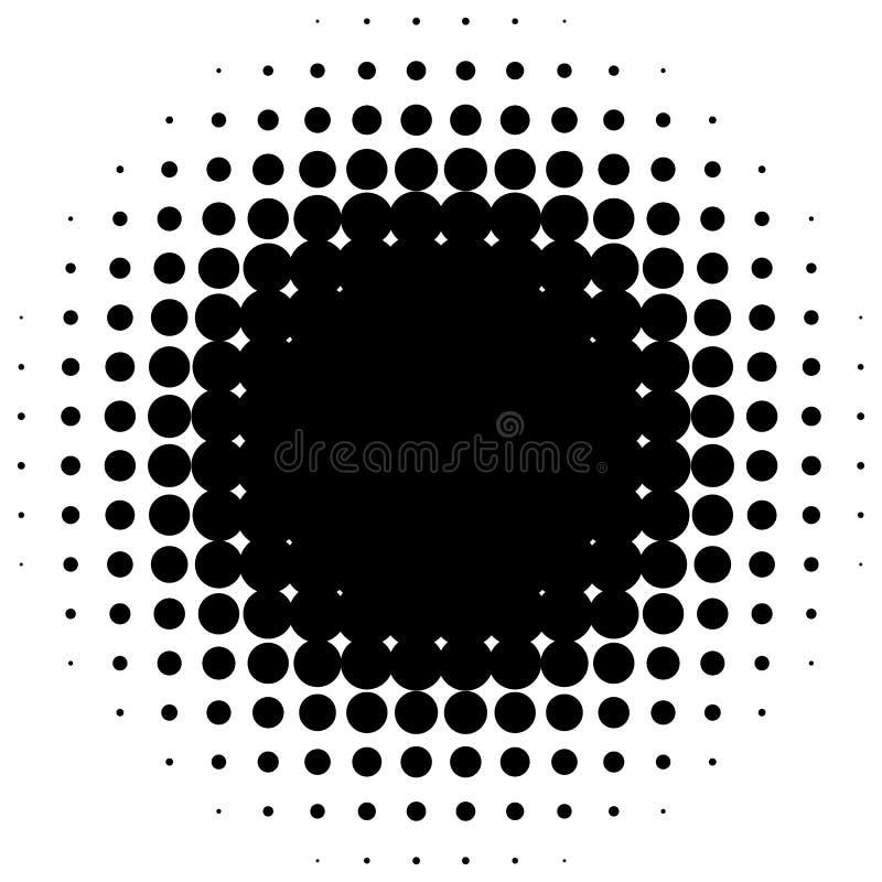 Ημίτονο στοιχείο κύκλων Μονοχρωματικό διαστιγμένο κυκλικό σχέδιο διανυσματική απεικόνιση