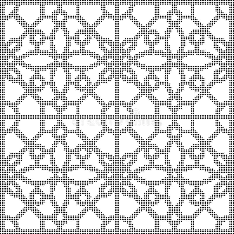 Ημίτονο στρογγυλό μαύρο άνευ ραφής τετραγωνικό διαγώνιο ΛΦ οκταγώνων υποβάθρου διανυσματική απεικόνιση