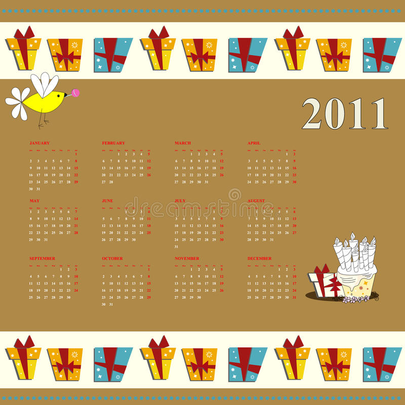 ημερολογιακά κινούμενα  απεικόνιση αποθεμάτων