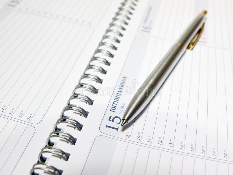ημερολογιακή πέννα στοκ φωτογραφίες με δικαίωμα ελεύθερης χρήσης