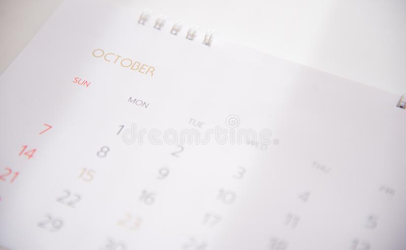 Ημερολογιακή σελίδα στον προγραμματισμό της έννοιας στοκ φωτογραφίες με δικαίωμα ελεύθερης χρήσης