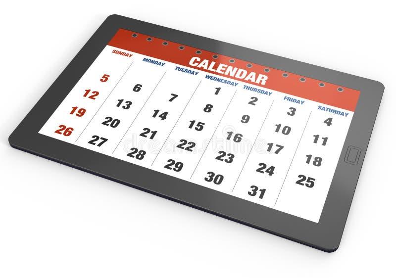 ημερολογιακή ταμπλέτα ελεύθερη απεικόνιση δικαιώματος