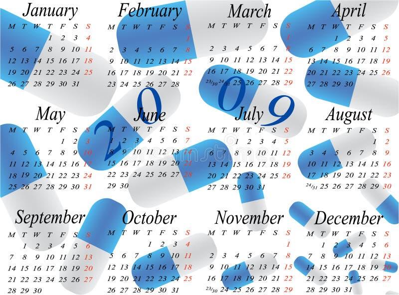 ημερολογιακό έτος του 2009 απεικόνιση αποθεμάτων