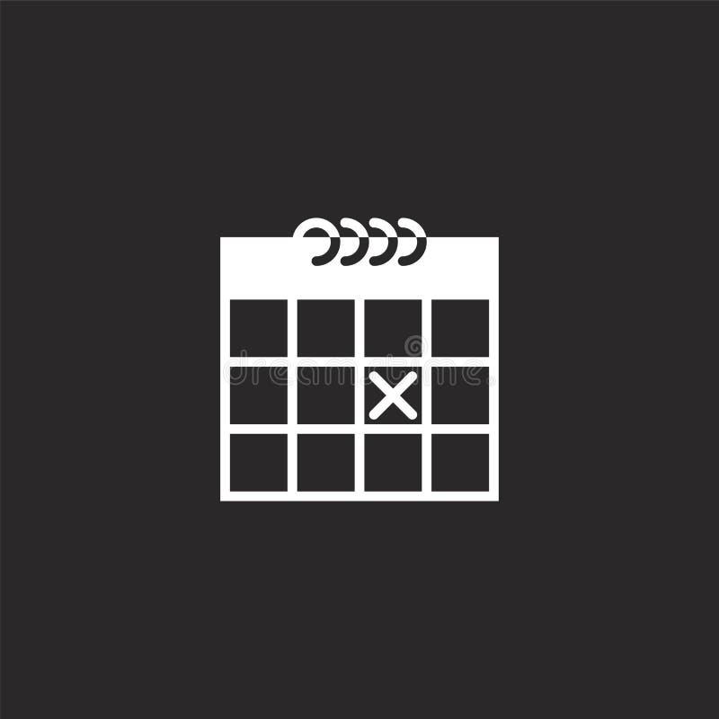 ημερολογιακό εικονίδιο Γεμισμένο ημερολογιακό εικονίδιο για το σχέδιο ιστοχώρου και κινητός, app ανάπτυξη ημερολογιακό εικονίδιο  διανυσματική απεικόνιση