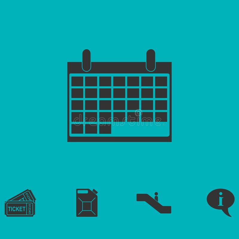 Ημερολογιακό εικονίδιο επίπεδο απεικόνιση αποθεμάτων